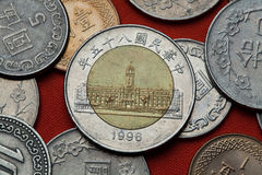 Coins of Taiwan. Presidential Office Building, Taipei Stock Photography