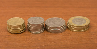 Coins tenge. macro Royalty Free Stock Photo
