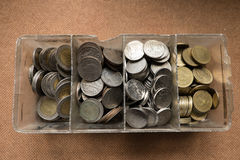 coins thai Arkivfoton