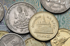 coins thailand Royaltyfri Fotografi