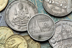 coins thailand Royaltyfria Foton