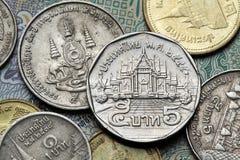 coins thailand Arkivbilder