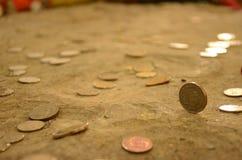 coins thailand Arkivfoto