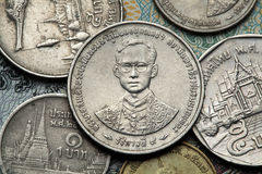 Coins of Thailand Royalty Free Stock Photos