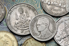 Coins of Thailand Royalty Free Stock Photo