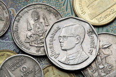 Coins of Thailand Stock Photography