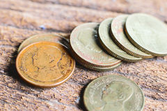 Coins of Thailand. Stock Images