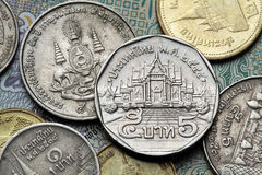 Coins of Thailand Stock Images