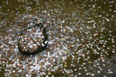 Coins throw in pond - Kyoto Stock Images