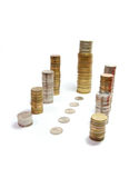 Coins_tower Photographie stock libre de droits