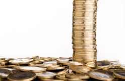 Coins tower Stock Image