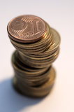 Coins tower Stock Photos