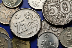 Coins of Turkey Royalty Free Stock Image