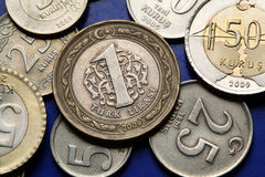 Coins of Turkey Stock Photography