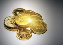 coins uk Arkivfoto
