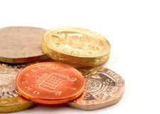 coins uk Fotografering för Bildbyråer