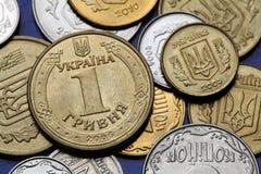 coins ukraine Royaltyfri Foto