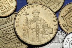 Coins of Ukraine Stock Photography