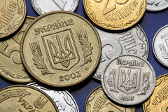 Coins of Ukraine Royalty Free Stock Photo