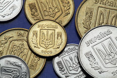 Coins of Ukraine Stock Images