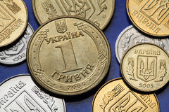 Coins of Ukraine Royalty Free Stock Photography