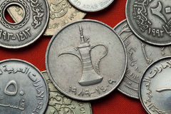 Coins of the United Arab Emirates Royalty Free Stock Image