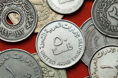 Coins of the United Arab Emirates Stock Images