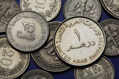 Coins of the United Arab Emirates Stock Photos