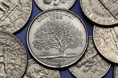 Coins of USA. US 50 state quarter Stock Photos