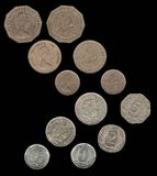 Coins used in the Eastern Caribbean Stock Photography