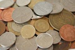 coins världen Arkivbild