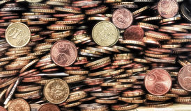Coins of various countries Royalty Free Stock Photo