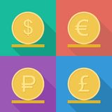 Coins vector icon. Stock Photos