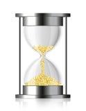 coins vektorn för timglaspengartid Royaltyfri Bild