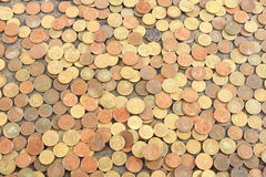 Coins Wallpaper Royalty Free Stock Photography