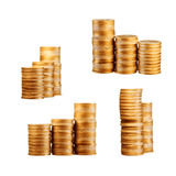 Coins on white Royalty Free Stock Images