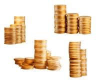Coins on white Stock Photos