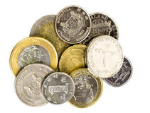 Coins of the World Royalty Free Stock Images