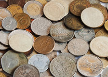 Coins from the world Royalty Free Stock Photography
