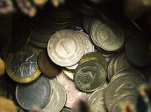 Coins worldwide Royalty Free Stock Photography