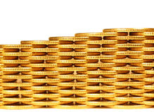 Coins from yellow metal3 Royalty Free Stock Photo