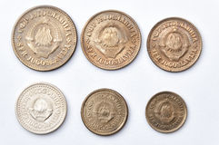 Coins Yugoslav Royalty Free Stock Photography