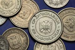 Coins of Yugoslavia Royalty Free Stock Photography