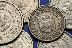 Coins of Yugoslavia Stock Image