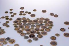 Coinsform de Lire turque une forme de coeur Photos libres de droits