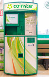 Coinstar Machine in Grocery Store Stock Images