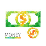 Coints和美元 免版税库存图片
