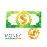 Coints et dollar Image libre de droits