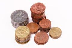 Coints in kolommen Stock Fotografie