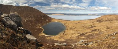 Coire Fhionn Lochan - île d'Arran, Ecosse Images stock